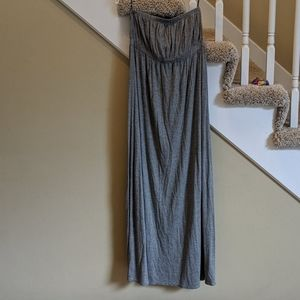 Gray NY&Co Strapless Maxi Dress, Size Small